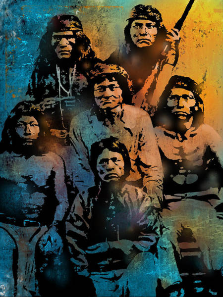 Wall Art - Painting - Proud Apache Scouts by Paul Sachtleben