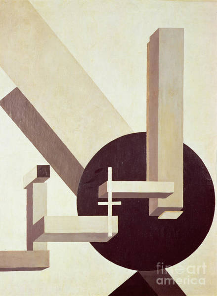 Gray Wall Art - Painting - Proun 10 by El Lissitzky