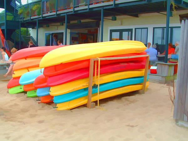 Digital Art - Provincetown Kayaks by Bill Barber