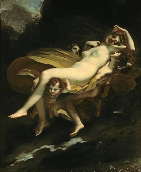 Putto Painting - Psyche Transported To Heaven by Pierre-Paul Prud hon