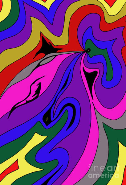 Drawing - Psychedelic 101 by Mary Mikawoz