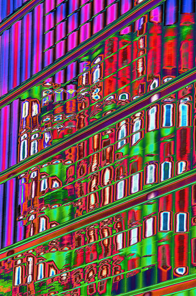 Wall Art - Photograph - Psychedelic Reflection Of Barcelona 12 by Richard Henne