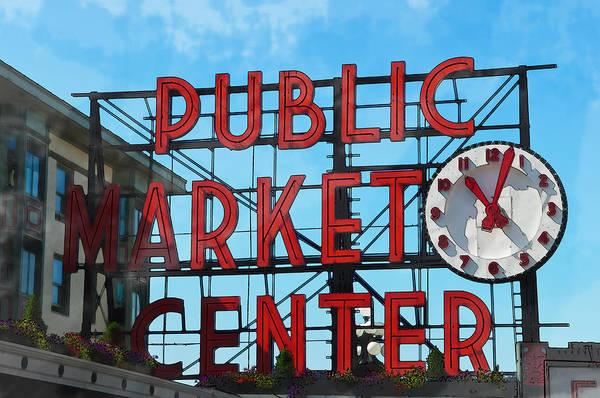 Photograph - Public Market Center In Seattle Washington by Brandon Bourdages