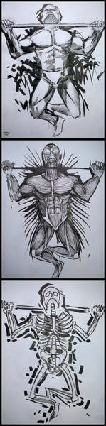 Drawing - Pull Up Your Health by John Jr Gholson