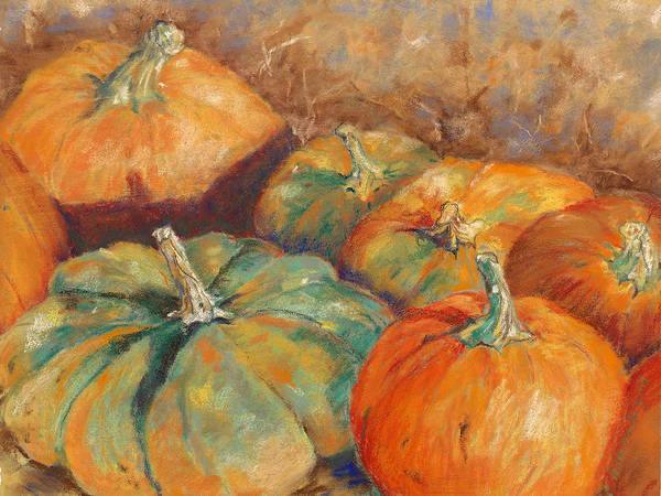 Pastel - Pumpkin Harvest by Hilda Vandergriff