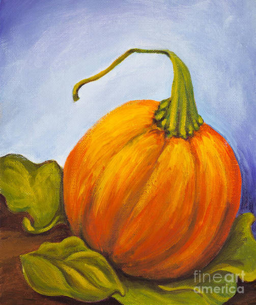 Winter Squash Painting - Pumpkin by Nicole Okun