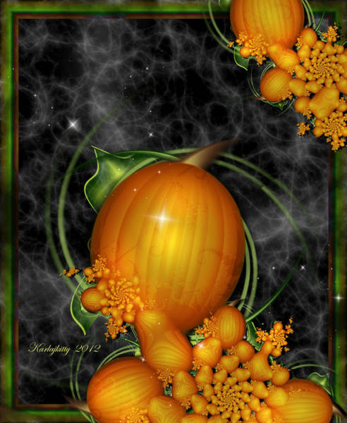 Digital Art - Pumpkin Patch by Karla White