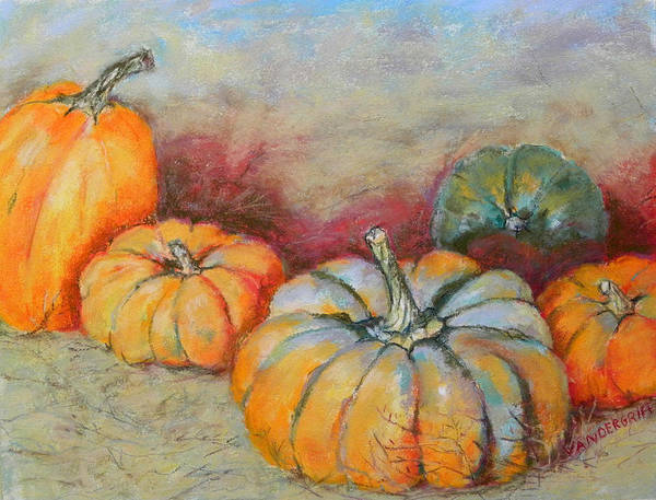 Painting - Pumpkins by Hilda Vandergriff