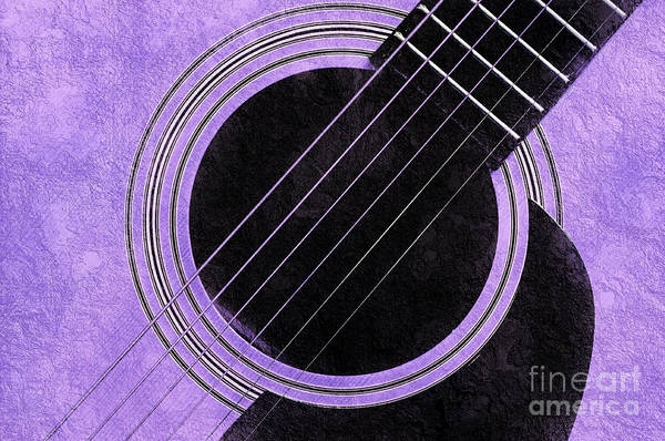 Photograph - Purple 2 Guitar by Andee Design
