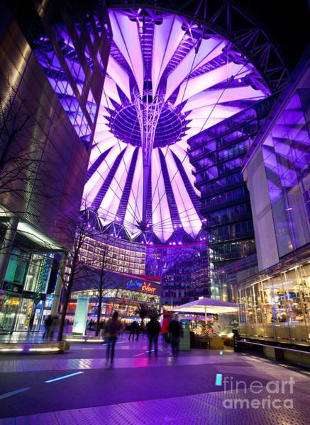 Sony Center Photograph - Purple Berlin by Mike Reid
