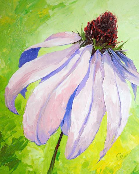 Coneflower Painting - Purple Coneflower by Chris Steinken