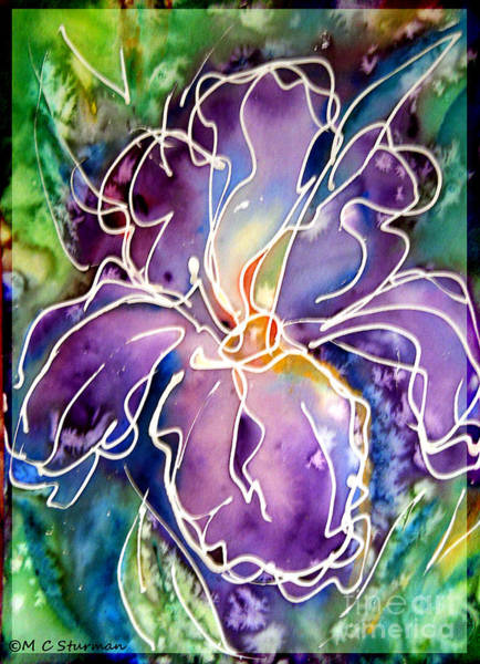 Purple Iris Mixed Media - Purple Iris by M c Sturman