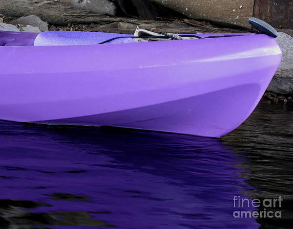 Grayton Beach State Park Photograph - Purple Kayak by Jan Prewett