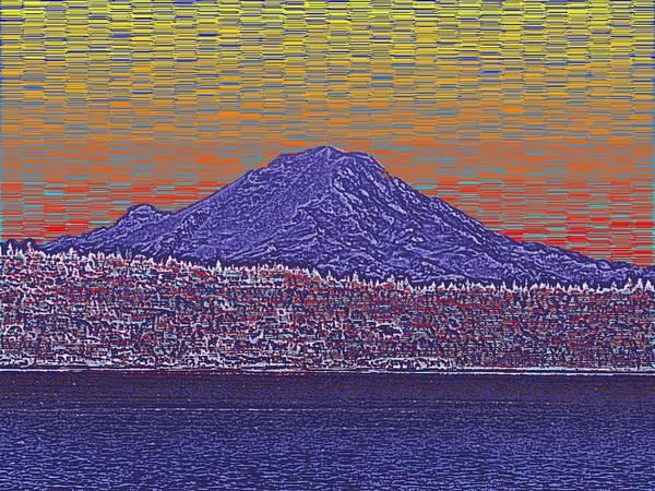 Mounted Digital Art - Purple Mountain Majesty Sunset by Tim Allen