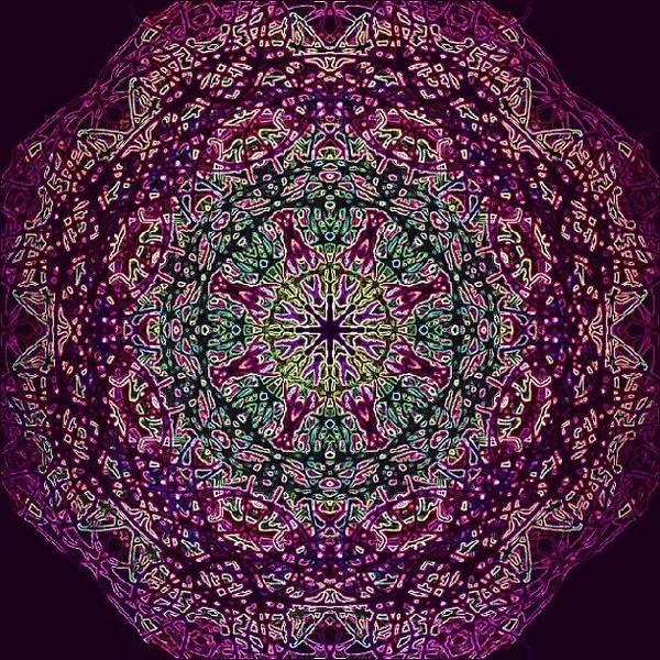 Spiritual Wall Art - Photograph - Purple Passion Mandala by Vicki Field