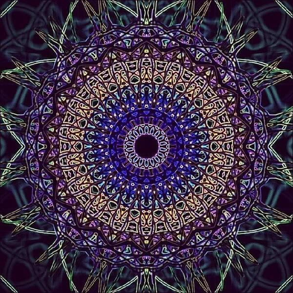 Spiritual Wall Art - Photograph - Purple Petal Mandala by Vicki Field