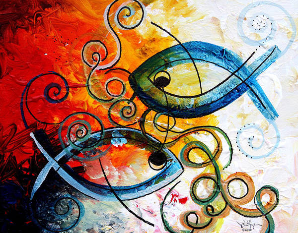 Painting - Purposeful Ichthus By Two by J Vincent Scarpace