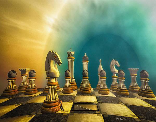 Digital Art - Pushing Back The Knight by Bob Orsillo