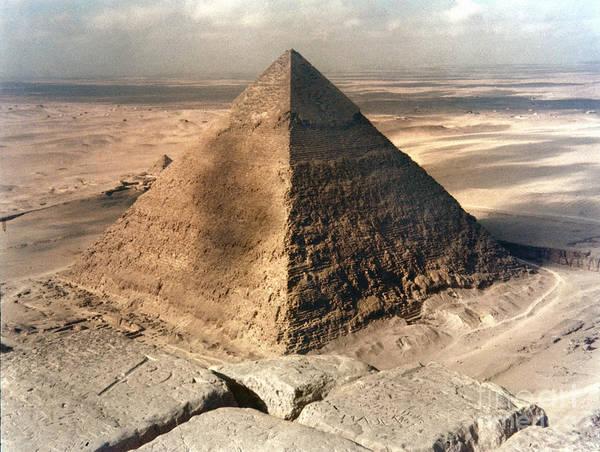 Photograph - Pyramid Of Khafre At Giza by Granger