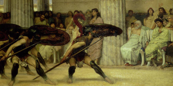 Lance Painting - Pyrrhic Dance by Sir Lawrence Alma-Tadema