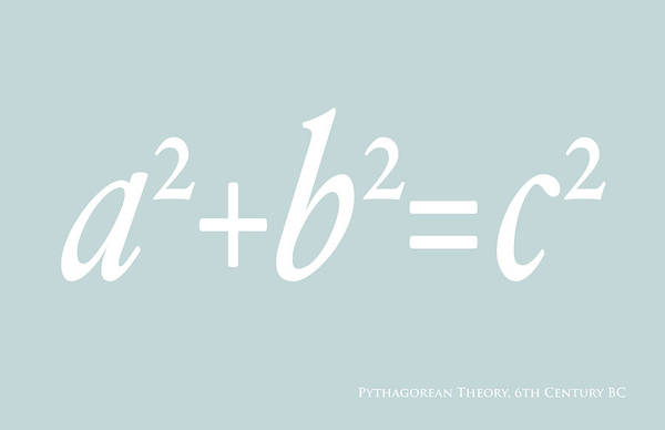 Equation Wall Art - Digital Art - Pythagoras Maths Equation by Michael Tompsett
