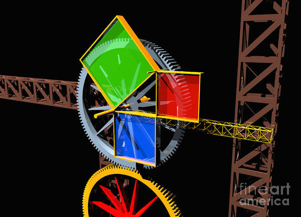 Digital Art - Pythagorean Machine Landscape 1 by Russell Kightley
