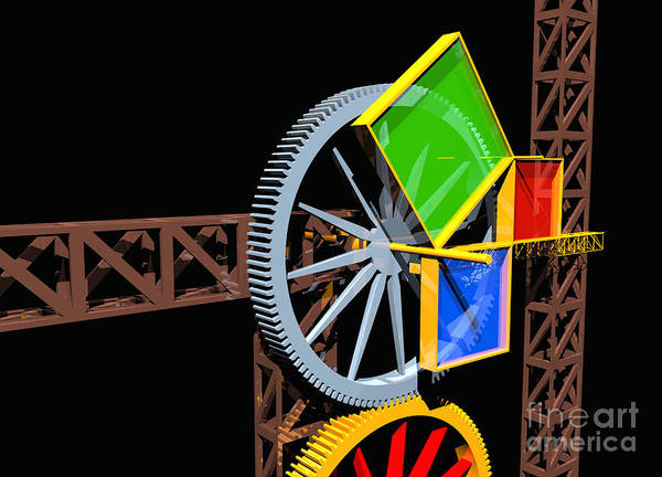 Digital Art - Pythagorean Machine Landscape 2 by Russell Kightley