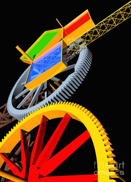 Digital Art - Pythagorean Machine Portrait 5 by Russell Kightley