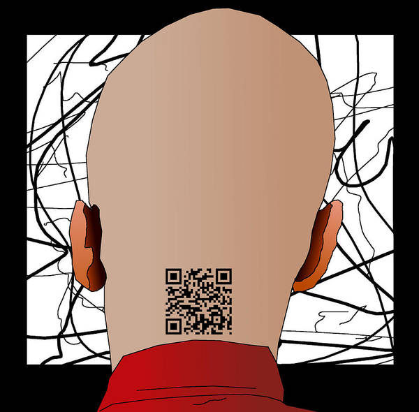 Quick Digital Art - Qr Code Tattoo by Casino Artist