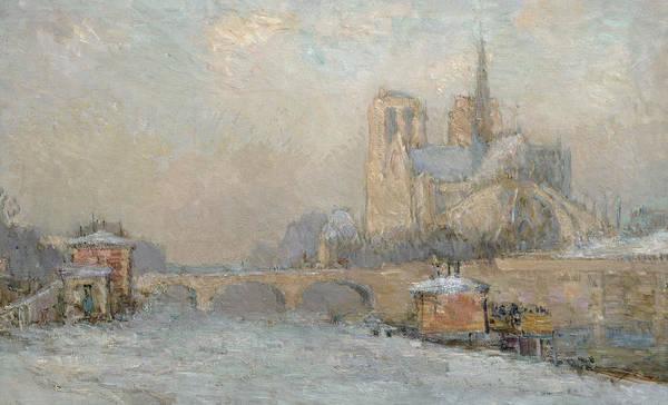 Notre Dame Painting - Quai De La Tournelle And Notre-dame De Paris by Albert-Charles Lebourg