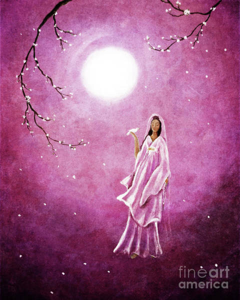 Dove Digital Art - Quan Yin In The Rosy Dawn by Laura Iverson
