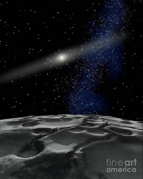 Cosmology Digital Art - Quaoar Is A Large Kuiper Belt Object by Ron Miller