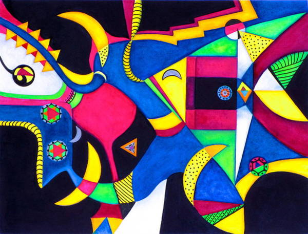 Quarter Moon Tango Art Print