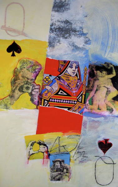Mixed Media - Queen Of Spades 45-52 by Cliff Spohn