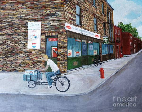Pointe St Charles Painting - Quenneville Study by Reb Frost