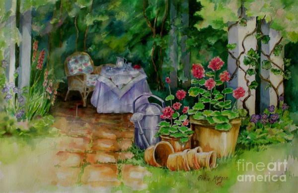 Genie Painting - Quiet Garden by Genie Morgan