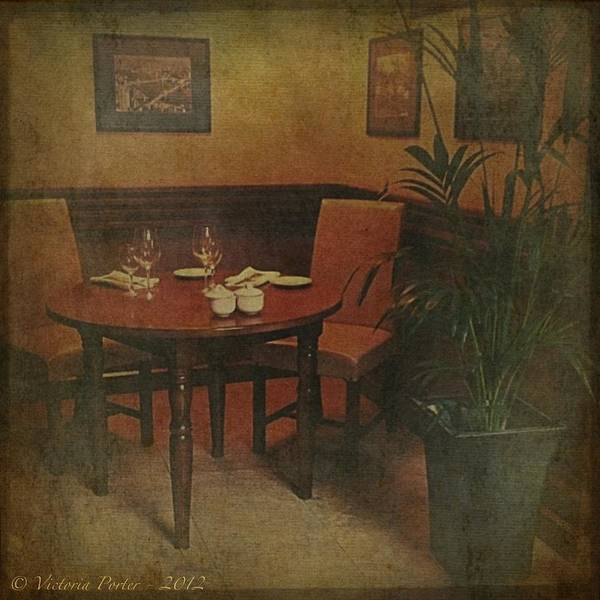 Photograph - Quiet Nook In Hotel Dining Room by Victoria Porter