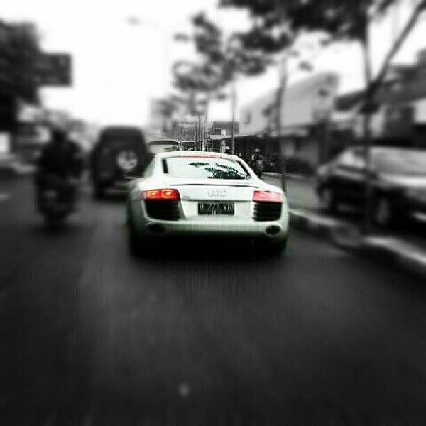 Audi Photograph - r8 #car #audi #r8 #street #bw by Bimo Pradityo