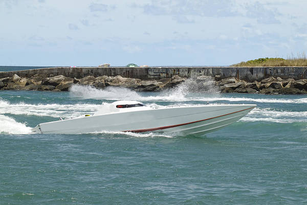 Photograph - Race Boat by Rudy Umans
