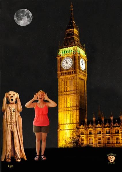 Mixed Media - Rachel Hoovler Screams Big Ben by Eric Kempson