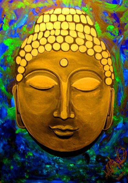 Painting - Rachel's Buddha by Michelle Dallocchio
