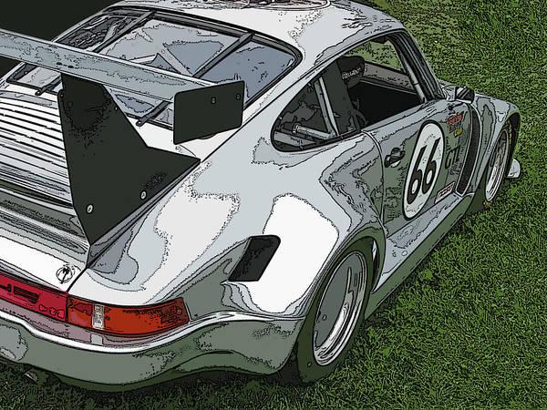 Photograph - Racing Porsche No. 66 by Samuel Sheats