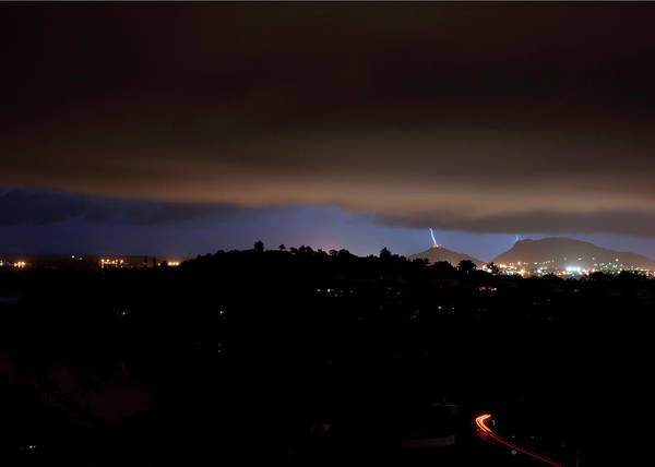 Photograph - Radar Hill Takes A Hit by Dan McManus