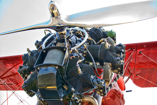 Radial Engine Photograph - Radial  by Steven Richardson