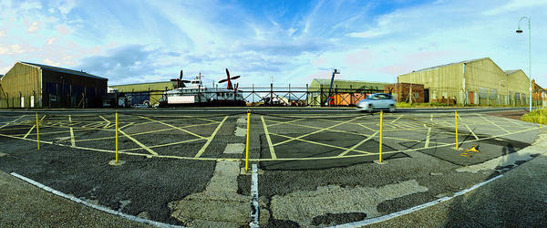 Taxiway Wall Art - Photograph - Raf Lee-on-the-solent Hovercaft by Jan W Faul