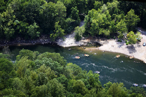 Wall Art - Photograph - Rafting The New River by Teresa Mucha