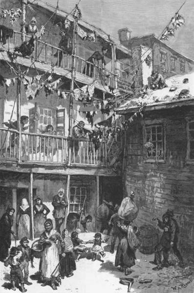 Italian Immigrants Wall Art - Photograph - Rag Pickers Court, Mulberry Street by Everett