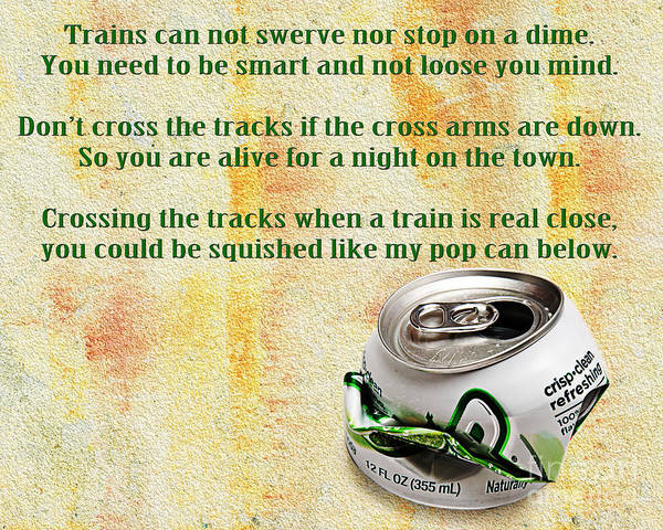 Photograph - Rail Road Safety In Green by Andee Design