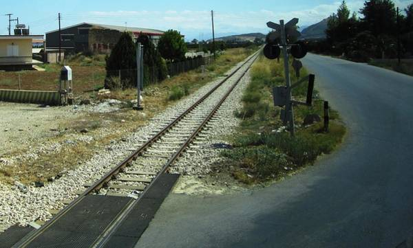 Photograph - Railroad Crossing IIi On The Way From Mycenae To Olympia In Greece by John Shiron