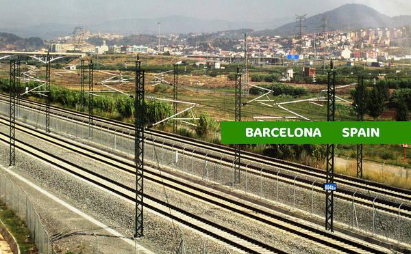 Photograph - Railroad Crossing Overpass Leaving Barcelona Spain by John Shiron